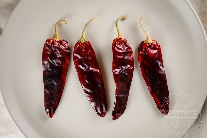 Guajillo Chilies - dried, moderately hot, fruity chilies - Diversivore.com
