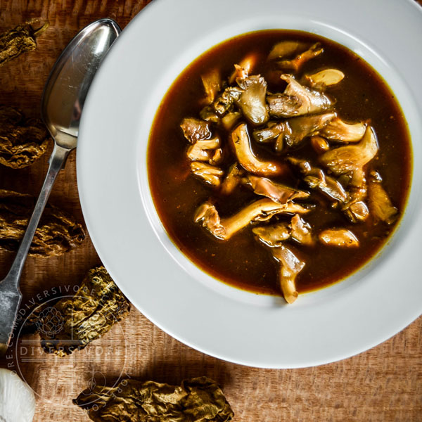 Smoky Vegan Oyster Mushroom Soup with Chipotles