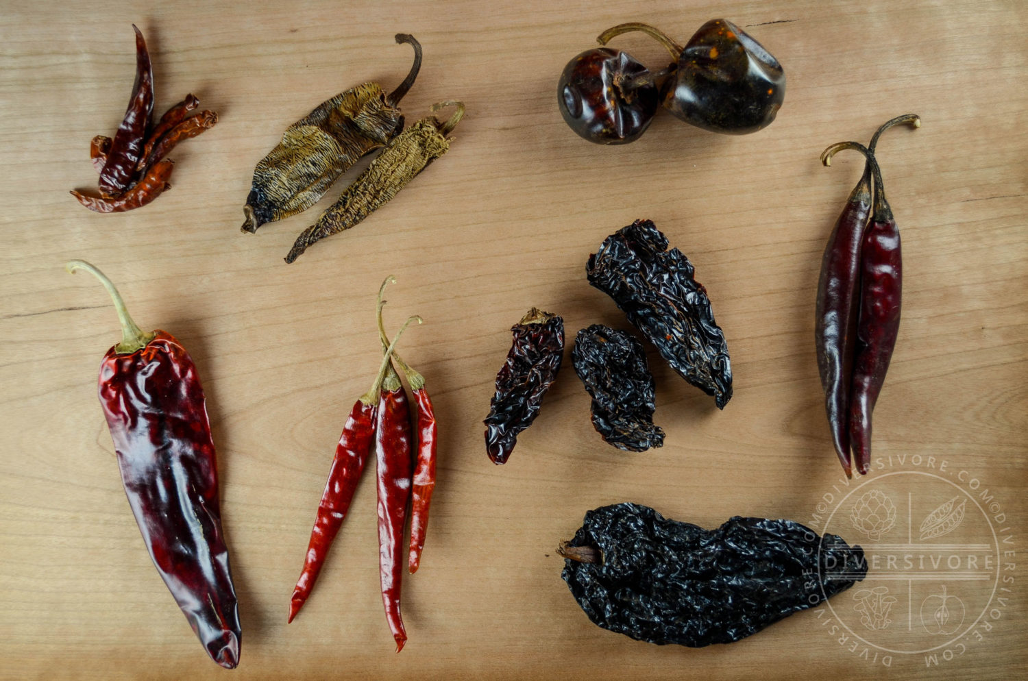 Various Dried Mexican Chilies - Diversivore.com