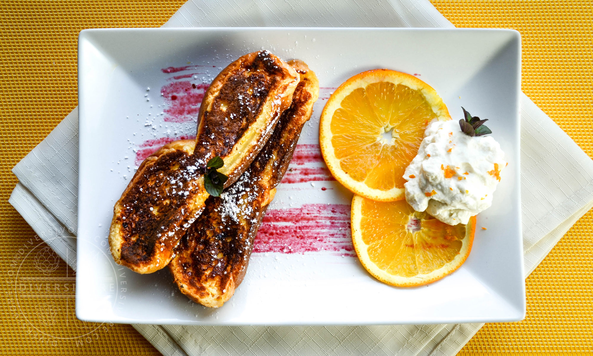 Seville Orange French Toast with Maple Whipped Cream - Diversivore.com