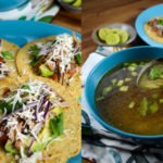 Spent-hen Chicken Tacos and Soup, made together in an InstantPot electric pressure cooker - Diversivore.com
