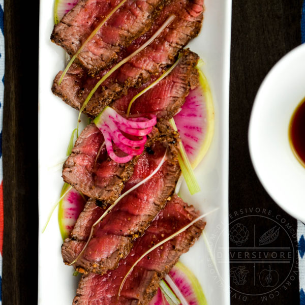 Seared Beef Tataki with Ponzu Shoyu