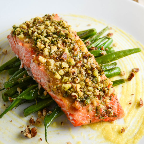 Honey Dijon Baked Salmon