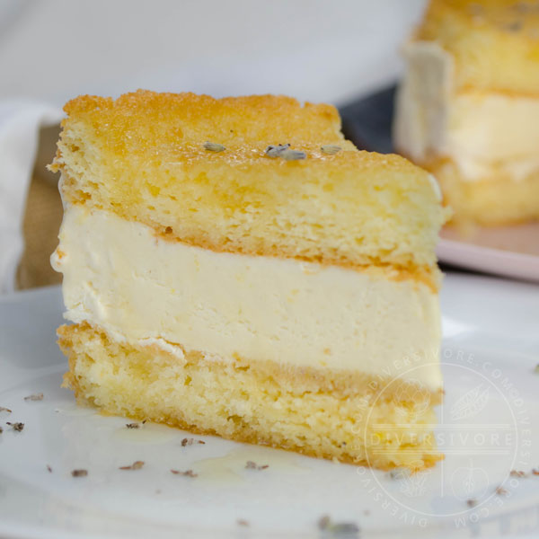 Lavender Lemon & Honey Semifreddo Cake