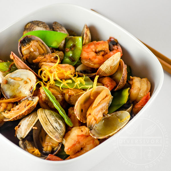 Shrimp and Clams with Black Bean and Citrus Sauce