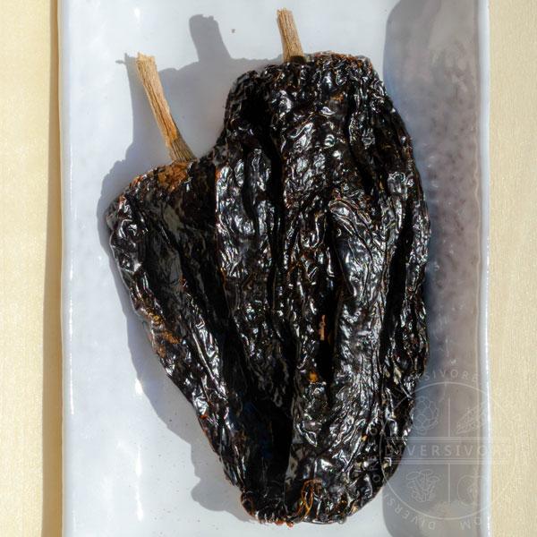 Dried whole mulato chilies