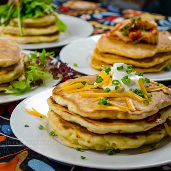 Savory Pancakes Four Ways
