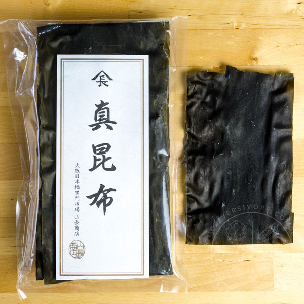 Kombu in a plastic package