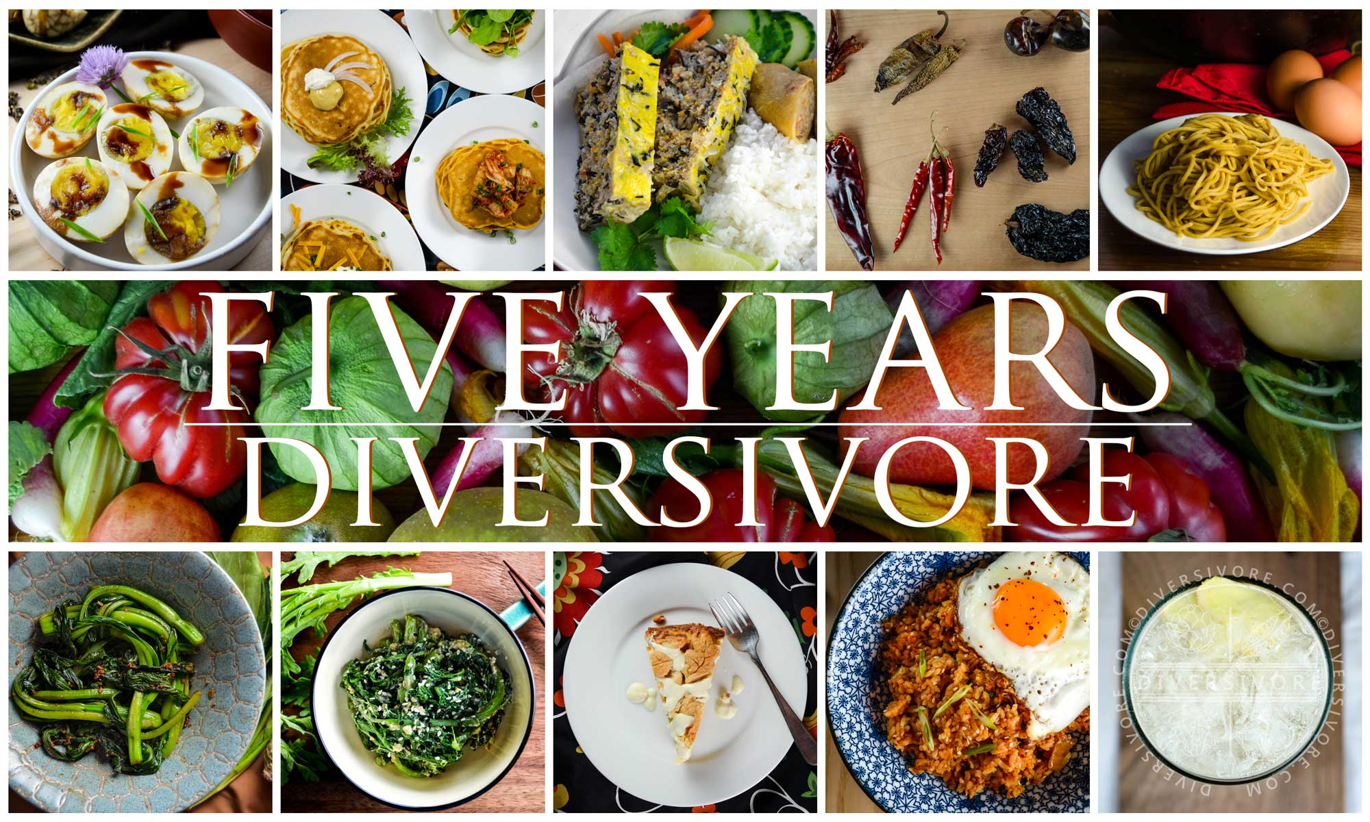Diversivore at Five - a composite image showing the 10 biggest posts from the site over the last five years
